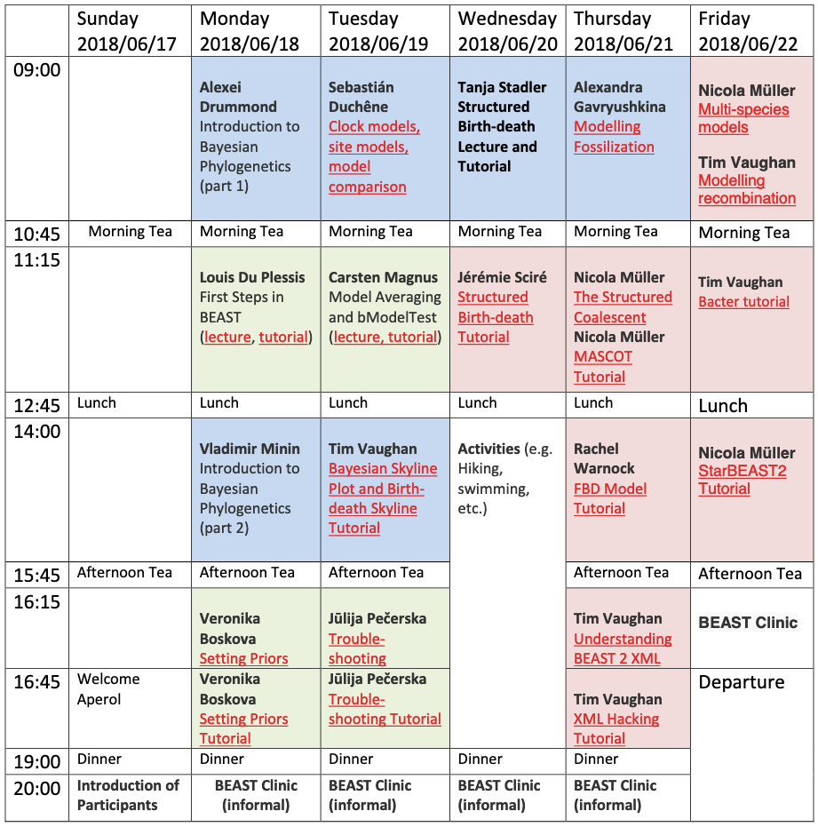 Image of example programme