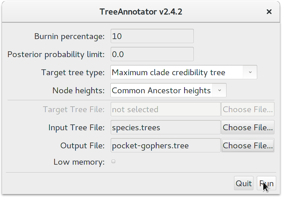 treeannotator_Species Trees with Relaxed Molecular Clocks
